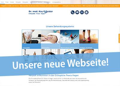 Neue Webseite www.orthopaedie-hagen.info